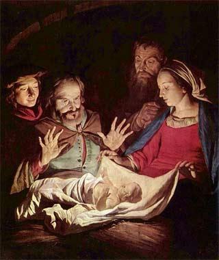 'Anbetung der Hirten', 2. Viertel 17. Jh., Gerard van Honthorst