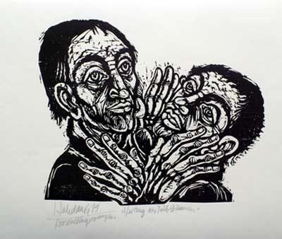 'Heilung des Taubstummen', 1979 - Walter Habdank. © Galerie Habdank
