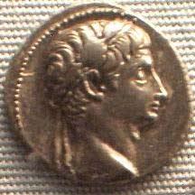 'Roman Denar Coin showing Emperor Augustus (30 BC - 14 AD)', 2006, Dr. Meierhofer