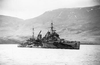'The British Fiji class cruiser HMS TRINIDAD', 15 - 18 February 1942,  Parnall, C H (Lt) Royal Navy official photographer
