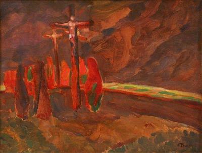 'Crucifixion  ', 1912, Jindřich Prucha