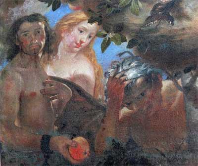 'Gemälde 'Immaculata' Detail: Adam und Eva, um 1705–1715, Johann Michael Feichtmayr d. Ä. - Andreas Praefcke, 2008