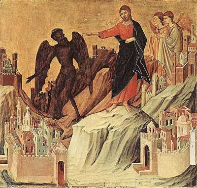 'Temptation of Christ (The Temptation on the Mount), Duccio
