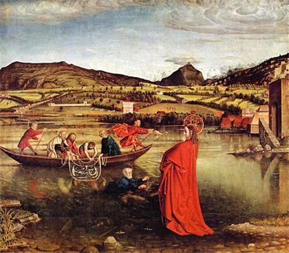 'Der Wunderbare Fischzug', 1444, Konrad Witz