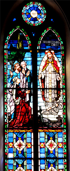 'The Second Coming of Christ window at St. Matthew's Lutheran Church in Charleston', 1966, Cadetgray