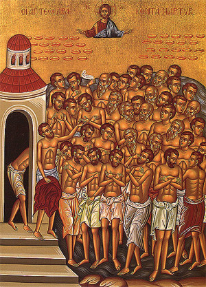 'Forty Martyrs of Sebaste', end of XIX c., anonimus