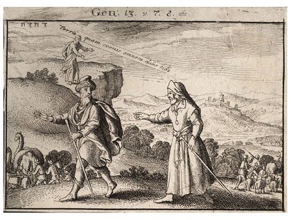 'Abraham and Lot separating', Unknown date (author lived 1607-1677), Wenceslas Hollar