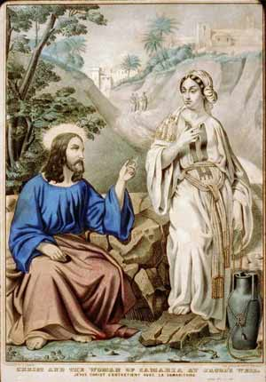 'Christ and the woman of Samaria at Jacob's Well', between 1835 and 1856, N. Currier