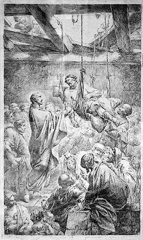 'Christus heilet einen Gichtbrüchigen', Bernhard Rode, 1780