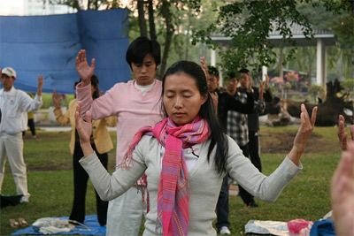 'Falun Dafa second exercise, standing meditation', HappyInGeneral, 2008