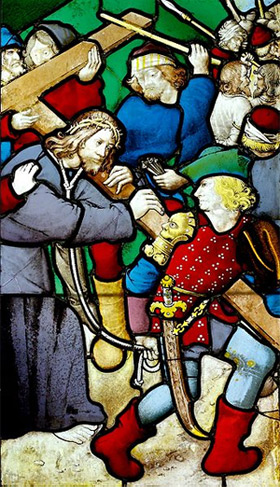 'Bearing of the Cross. Stained glass, Paris, ca. 1500', Jastrow (2006)