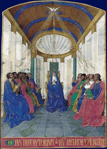 'La Pentecôte Heures d'Étienne Chevalier', Jean Fouquet, 15th century