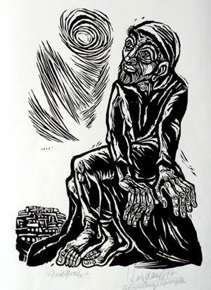 'Zwiesprache', 1977 - Walter Habdank. © Galerie Habdank