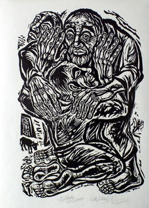 'Rückkehr des Sohnes', 1978 - Walter Habdank. © Galerie Habdank