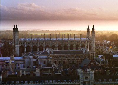'View over Trinity College, Gonville and Caius and Clare College towards King's College Chapel', Bob Tubbs, 1997
