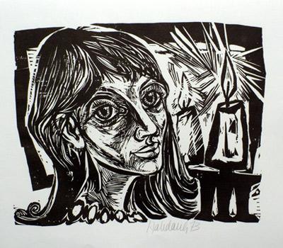 'Mädchen mit Kerze', 1973 - Walter Habdank. © Galerie Habdank