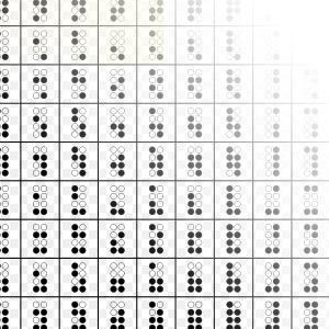 'The 'Braille Patterns' Unicode range (2800-28FF)', 2007, Prince Kassad