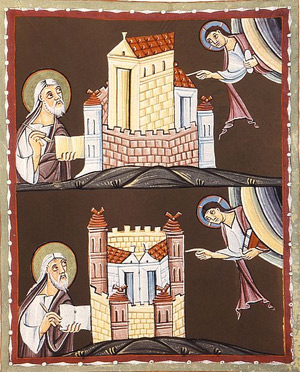 'Johannes schreibt an die Gemeinden von Sardes und Philadelphia', um 1000, Auftraggeber: Otto III. oder Heinrich II.