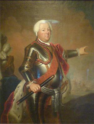 'Staatsporträt Friedrich Wilhelm I.', um 1733, Antoine Pesne