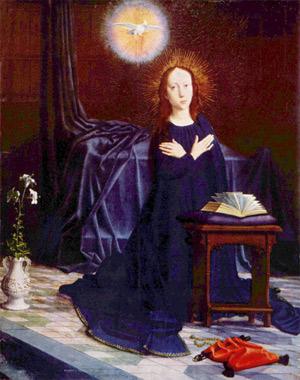 'Die Jungfrau der Verkündigung', Gerard David, um 1500-1510