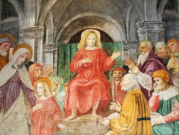Fresco 'Jesus im Tempel', Giovanni Dall'Orto, April 2007.