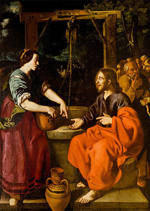 'Jesus and Samaritan woman', XVII c. , Jacinto de Espinosa