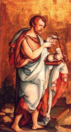 'Hl. Johannes der Täufer ', um 1530, Meister von Meßkirch