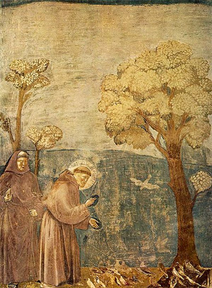 'Legend of St Francis, Sermon to the Birds', 1266–1337, Giotto di Bondone