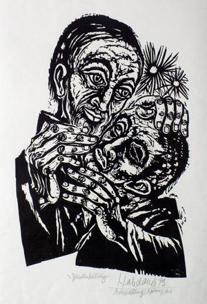 'Blindenheilung, Neufassung', 1979 - Walter Habdank. © Galerie Habdank