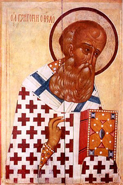'Gregory of Nazianzus (russian icon)' , XVI c.