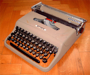 'Olivetti Lettera 22 (first model) typewriter, 2005, LjL