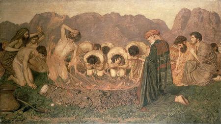 'Elijah's Sacrifice', 1863, Albert Joseph Moore