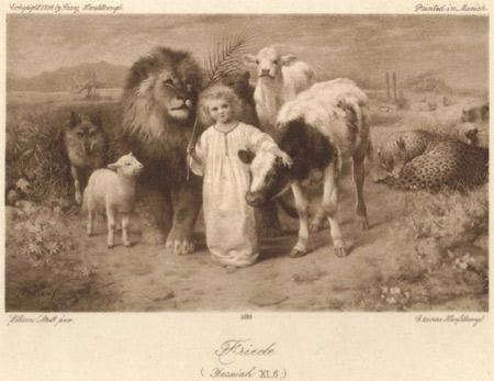 'Friede auf der Erde', 1896, Franz Hanfstaengl