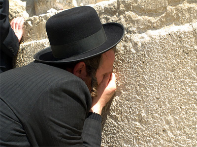 A man crying as he prays at the Western Wall', 2009,  David Shankbone