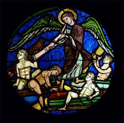 Bleiglasfenster 'Auferstehung der Toten', 2011, GFreihalter