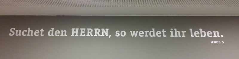 'Suchet den HERRN, so werdet ihr leben.', 02. Februar 2014, Gmeindezentrum