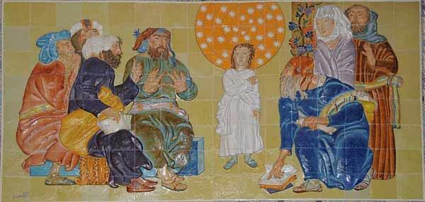 'Azulejos of Jesus among the Doctors', 2010, Joseolgon