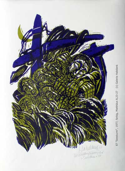 'Seestutm' - 1977, Matthäus 8, 23-27, Walter Habdank. © Galerie Habdank