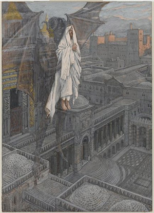 'Jesus Carried up to a Pinnacle of the Temple', between 1886 and 1894, James Joseph Jacques Tissot