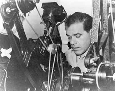 'Frank Capra cuts Army film as a Signal Corps Reserve major during World War II', 1943, Andibrunt, 2006