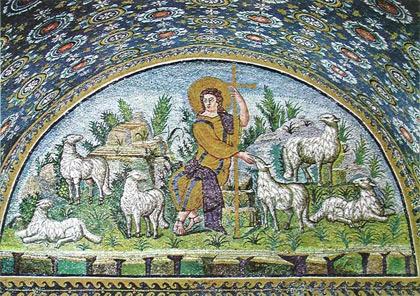 'Der gute Hirte', 1. Hälfte 5. Jh., Ravennatische Schule