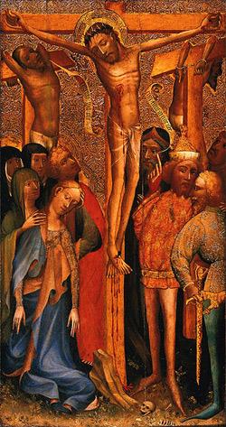 'The Crucifixion', circa 1395, English School