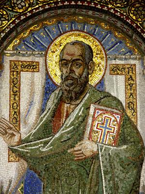 Mosaik des Heiligen Paulus, Veria, Griechenland (AJ Alfieri-Crispin, San Francisco, CA, USA, 2006)