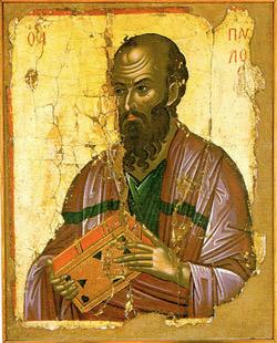 'Der  Apostel Paulus', Stavronikita Monastery, Mount Athos, 1546 - Theophanes the Cretan