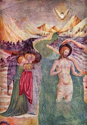 'Taufe Christi', 1435 - Masolino da Panicale