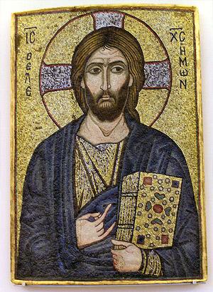'Mosaic Icone with Christ the Merciful (1100-1150)', Museum für Byzantinische Kunst, Bode-Museum, Berlin, Germany, Gunnar Bach Pedersen