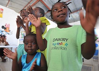 'Haitian orphans', 2010, Marcello Casal Jr/ABr