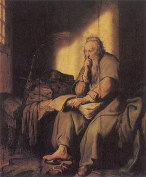 'St. Paul in Prison', 1627, Rembrandt