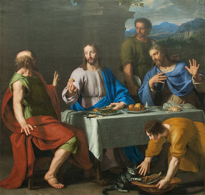 'Supper at Emmaus', 1631–1681, Jean-Baptiste Champagne