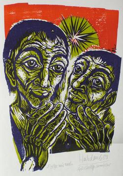 'Folge mir nach', 1989 - Walter Habdank. © Galerie Habdank